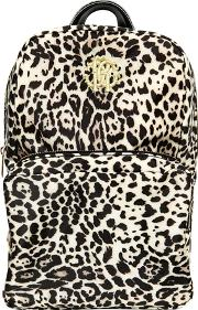 Leopard Printed Nylon Canvas Backpack