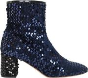 60mm Sequined Velvet Ankle Boots