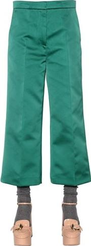 Cropped Duchesse Pants