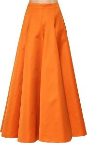 Tehcno Gabardine Long Skirt