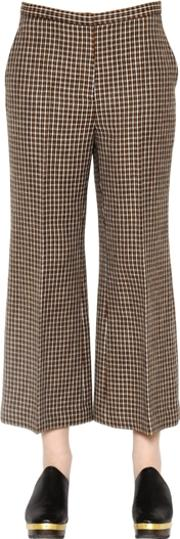 Tweed Wool Cropped Pants
