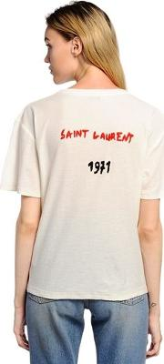 Back Logo Embroidered Jersey T Shirt