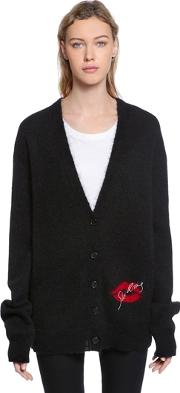 Embroidered Jacquard Knit Cardigan