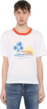 Waiting For Sunset Cotton Jersey T Shirt