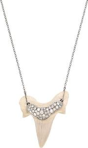 Shark Tooth Necklace With Diamonds