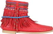 10mm Fringed Nappa Leather Boots