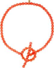 Holiday Coral Anklet
