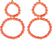 Holiday Coral Earrings