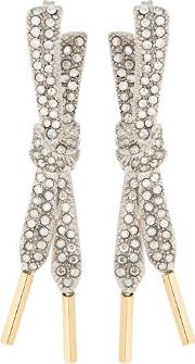 Laces Earrings With Swarovski Crystal