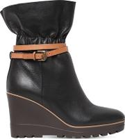 70mm Leather Ankle Boots