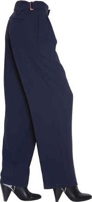 Pleated Techno Crepe Pants