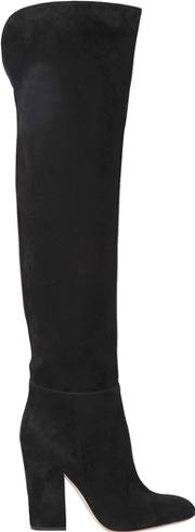 105mm Suede Over The Knee Boots
