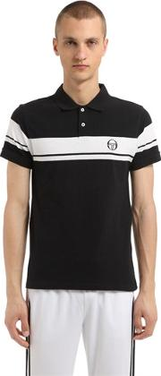 Young Line Logo Cotton Pique Polo