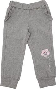 Flower Embroidered Cotton Sweatpants