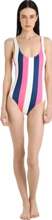 Anne Marie Striped Lycra Swimsuit