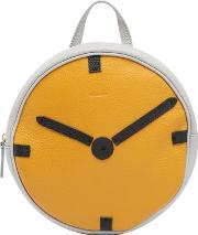 Clock Leather Backpack