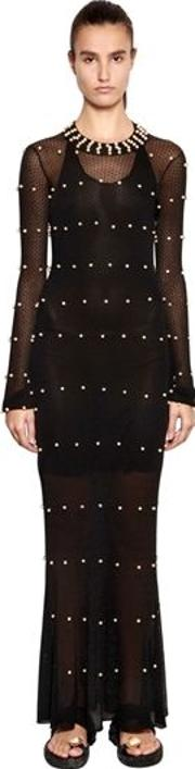 Embellished Knit Dress
