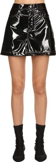Faux Patent Leather Skirt