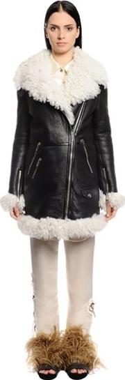 Leather & Shearling Coat