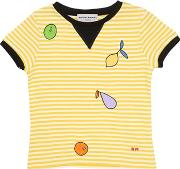 Embroidered Cotton Jersey T Shirt