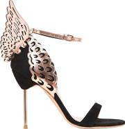 100mm Evangeline Wings Suede Sandals
