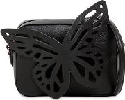 Flossy Butterfly Leather Camera Bag