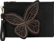 Flossy Stud Butterfly Pouch