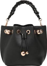 Mini Romy Leather Bucket Bag