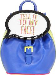 Tell It To My Face Leather Backpack