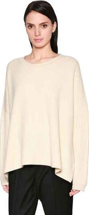 Oversized Ribbed Cashmere Knit Sweater