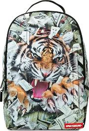 Tiger Money Printed Backpack