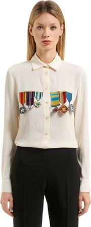 Embellished Silk Blend Shirt