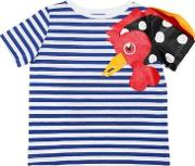 Rooster Striped Cotton Jersey T Shirt