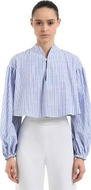Striped Cotton Cropped Top