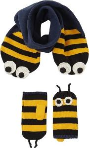 Bees Cotton Blend Scarf & Mittens