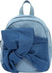 Denim Backpack With Knot