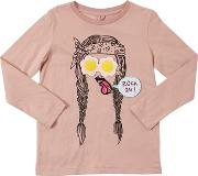 Funny Face Cotton Jersey T Shirt