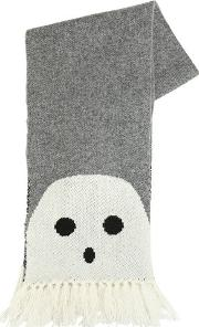 Ghosts Doubled Wool Knit Scarf
