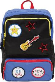 Patches Denim Backpack