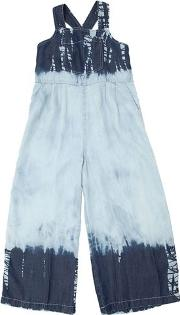 Tie Dyed Chambray Overalls