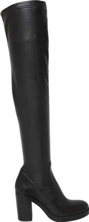 80mm Stretch Faux Leather Boots
