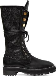 30mm Elspeth Leather Combat Boots
