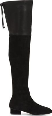 30mm Helena Stretch Suede & Leather Boot