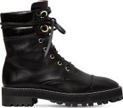 30mm Lexy Nappa Leather Combat Boots