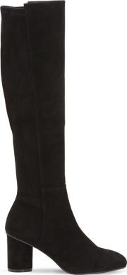 75mm Eloise Stretch Suede Boots