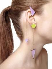 Collezione Three 3 Triangle Earrings