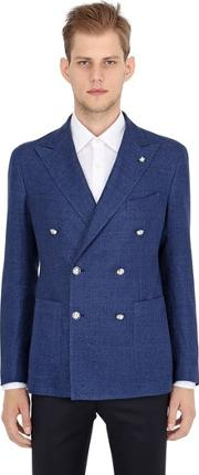 Cotton Linen Double Breasted Jacket