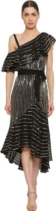 Sequined Georgette Dress