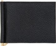Grained Leather Wallet W Money Clip