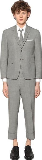 Micro Houndstooth Light Wool Suit